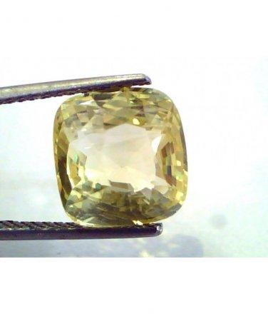 8.15 Ct Unheated Untreated Natural Ceylon Yellow Sapphire/Pukhraj