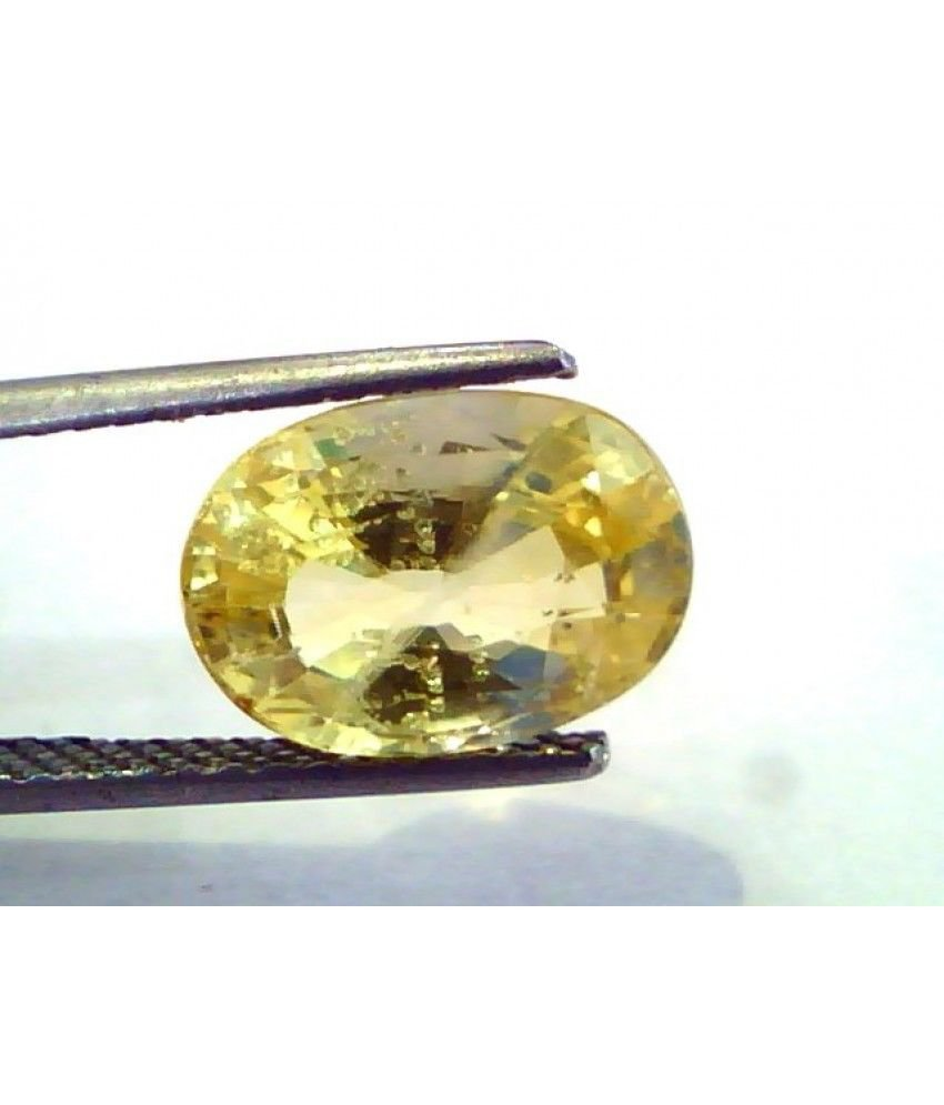 5.95 Ct Unheated Untreated Natural Ceylon Yellow Sapphire/Pukhraj