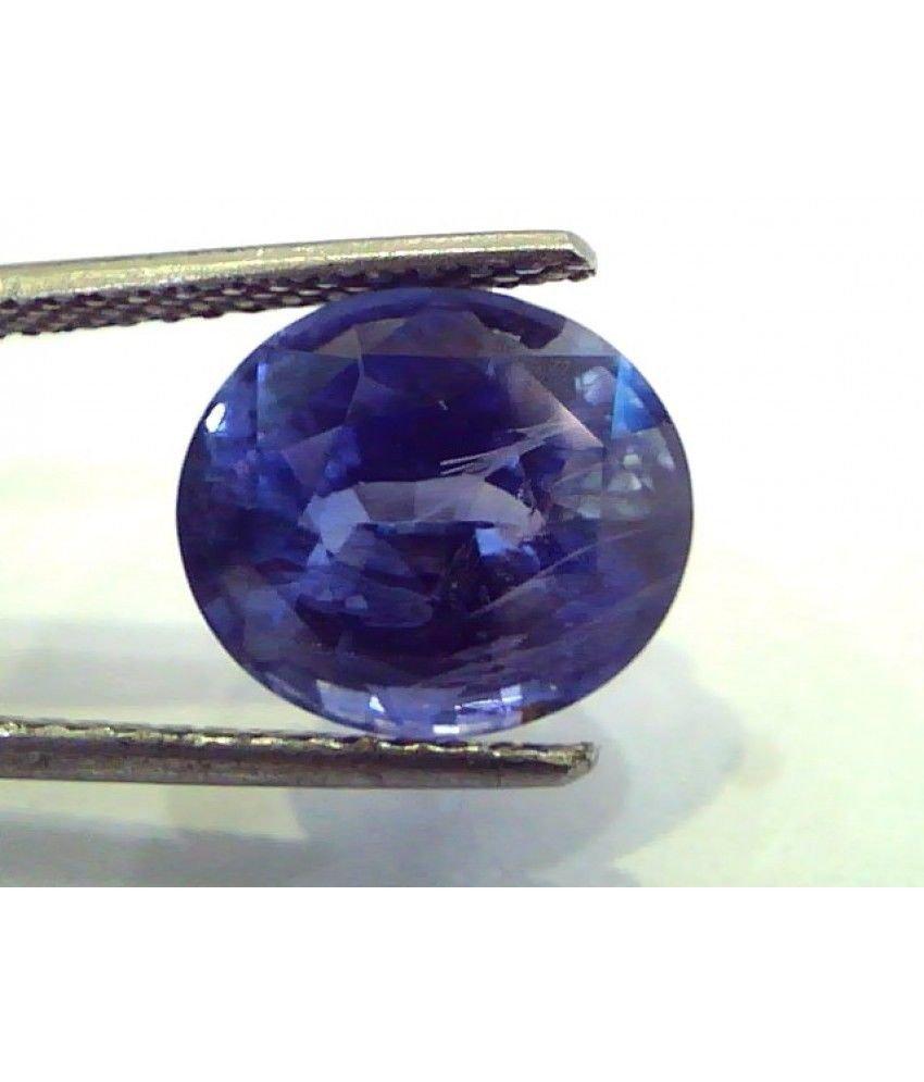 6.32 Ct IGI Certified Untreated Unheated Natural Ceylon Blue Sapphire