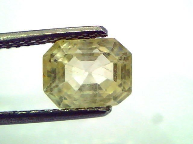 2.93 Ct Unheated Untreated Natural Ceylon Yellow Sapphire/Pukhraj