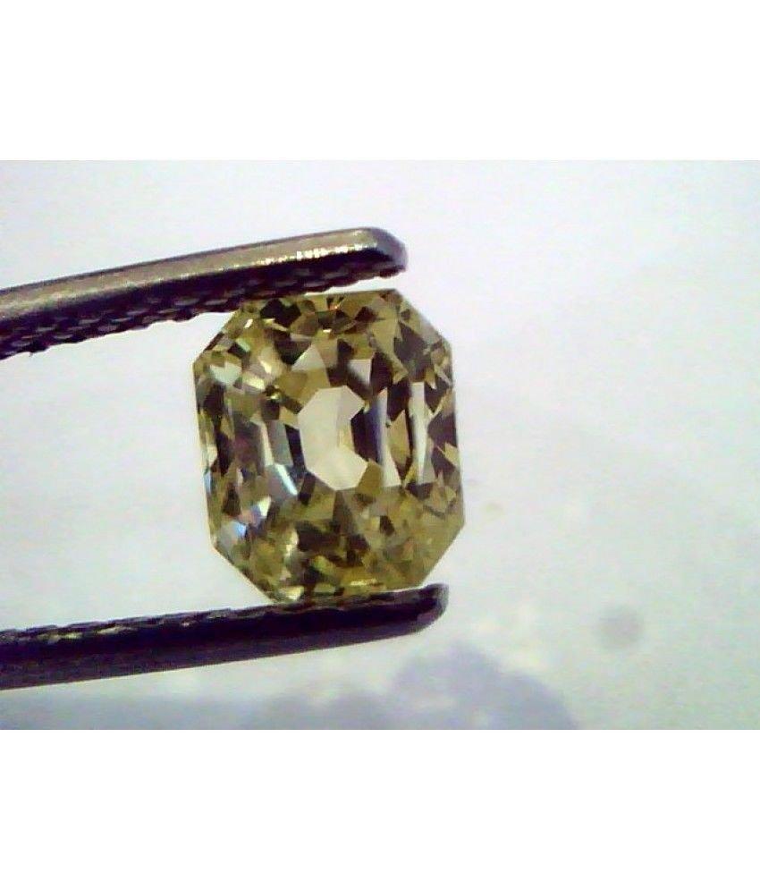 2.32 Ct  Unheated Untreated Natural Ceylon Yellow Sapphire/Pukhraj