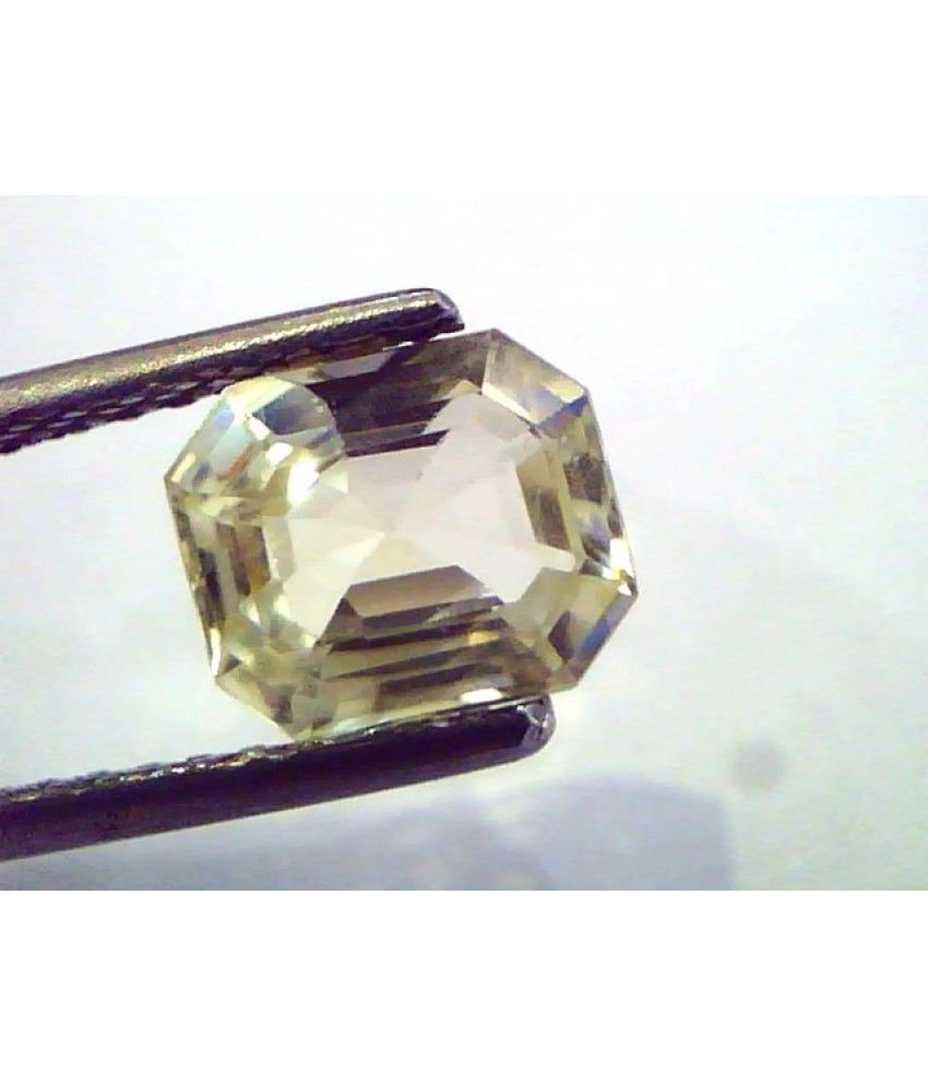 2.26 Ct  Unheated Untreated Natural Ceylon Yellow Sapphire/Pukhraj