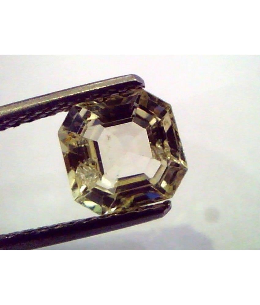 2.12 Ct  Unheated Untreated Natural Ceylon Yellow Sapphire/Pukhraj