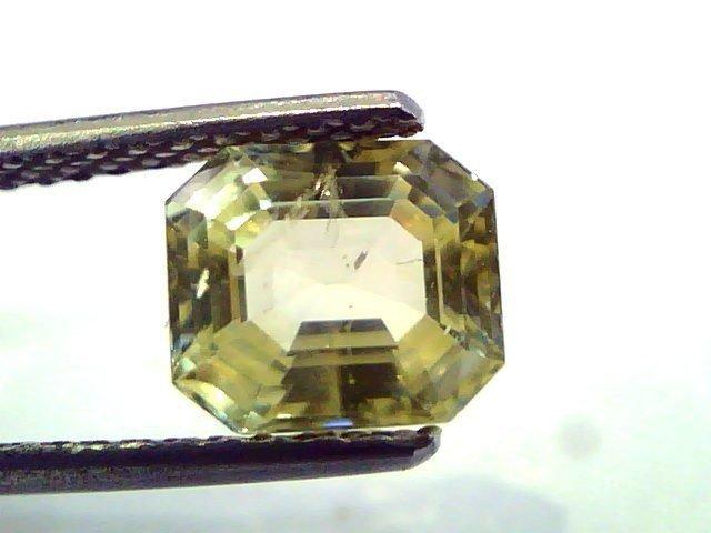 2.61 Ct  Unheated Untreated Natural Ceylon Yellow Sapphire/Pukhraj