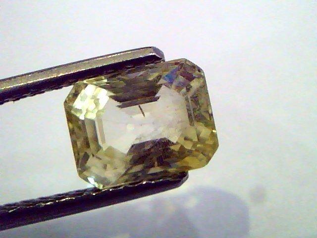 2.53 Ct  Unheated Untreated Natural Ceylon Yellow Sapphire/Pukhraj