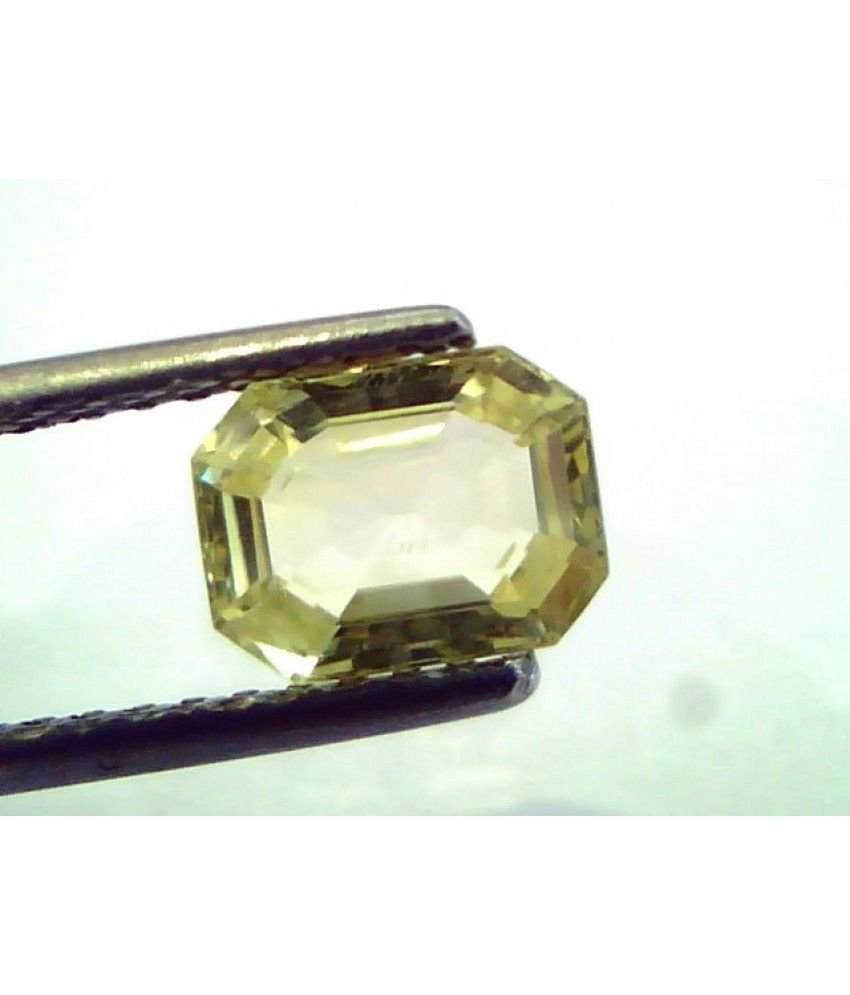 1.96 Ct  Unheated Untreated Natural Ceylon Yellow Sapphire/Pukhraj