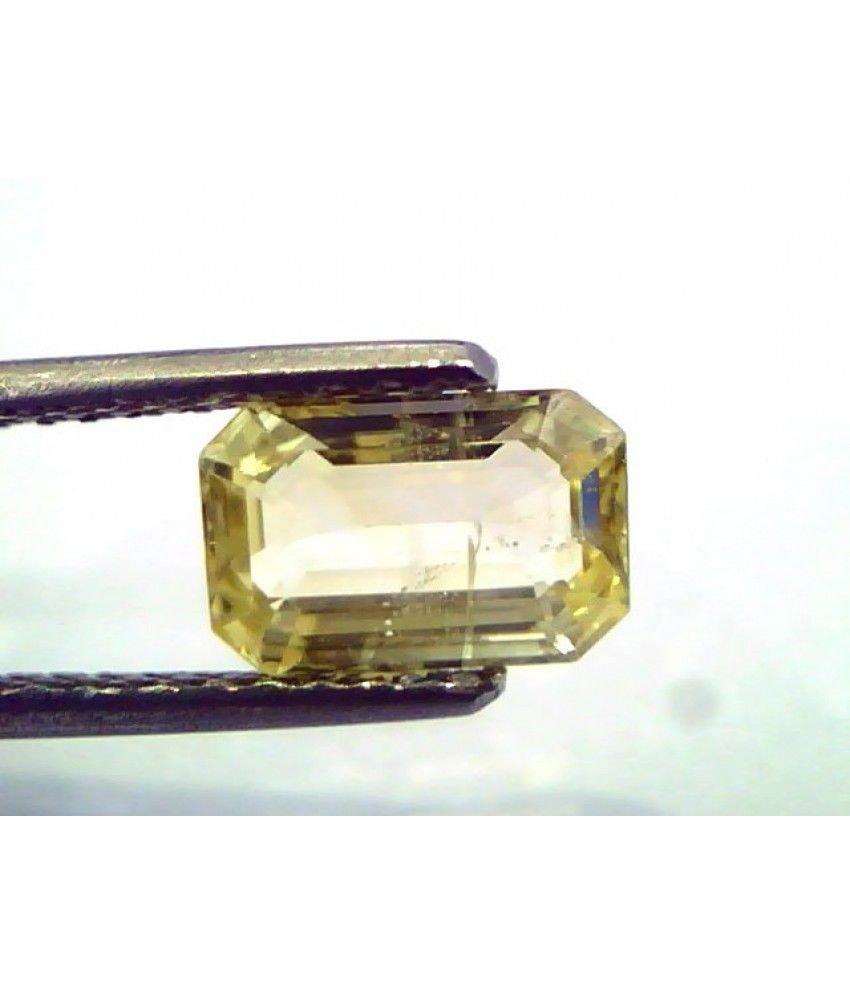 1.93 Ct  Unheated Untreated Natural Ceylon Yellow Sapphire/Pukhraj