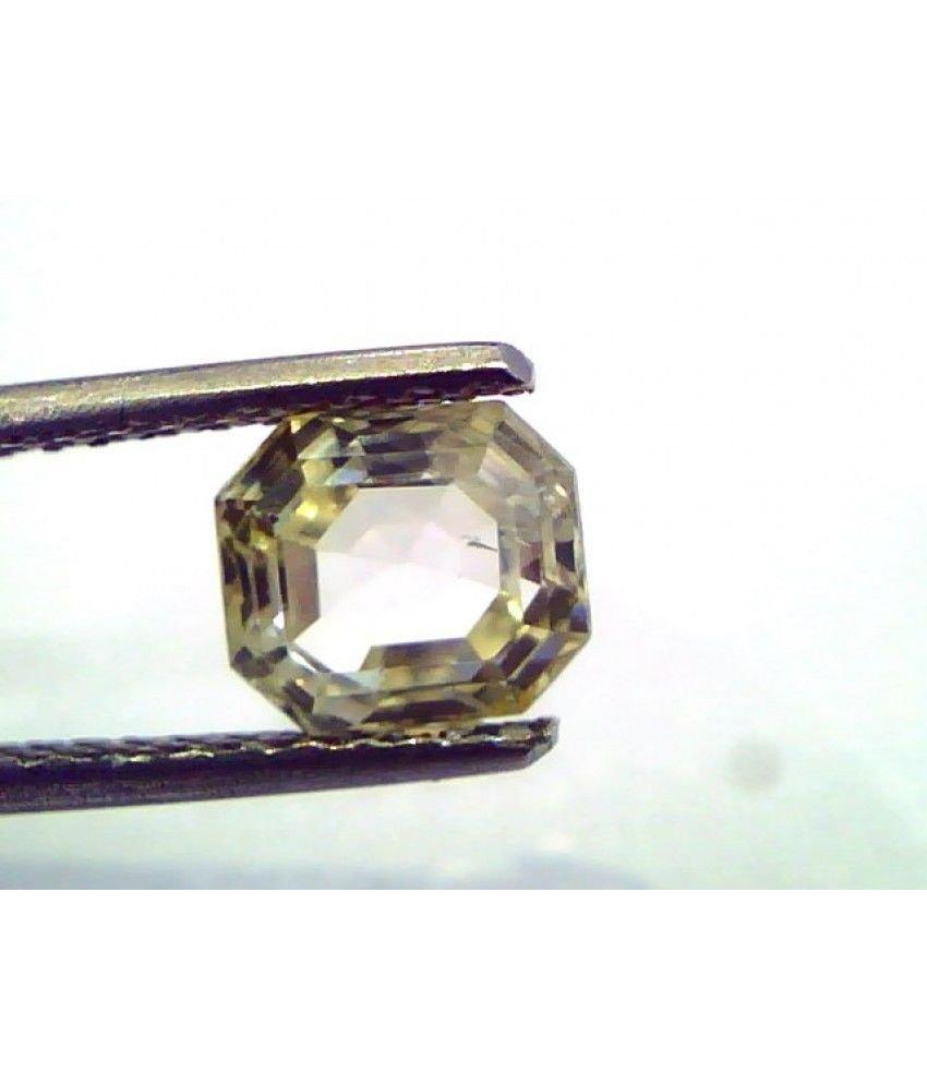 1.92 Ct  Unheated Untreated Natural Ceylon Yellow Sapphire/Pukhraj