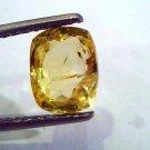 3.11 Ct 5.25 Ratti Unheated Untreated Natural Ceylon Yellow Sapphire