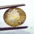 6.84 Ct Unheated Untreated Natural Ceylon Yellow Sapphire Pukhraj