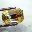 6.89 Ct IGI Certified Unheated Natural Ceylon Yellow Sapphire AAAAA
