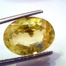 9.08 Ct Unheated Untreated Natural Ceylon Yellow Sapphire/Pukhraj