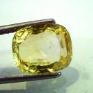 5.81 Ct IGI Certified Unheated Natural Ceylon Yellow Sapphirej