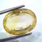 Huge 12.38 Ct Unheated Untreated Natural Ceylon Yellow Sapphire Gems