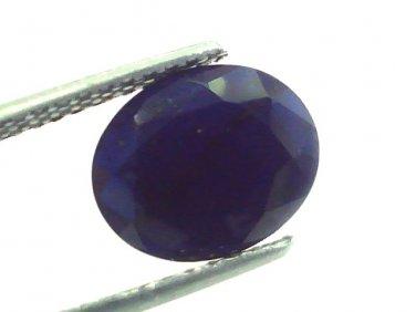 6.75 Ct 11.25 Ratti Natural Dark Bangkok Blue Sapphire Gemstone Heated