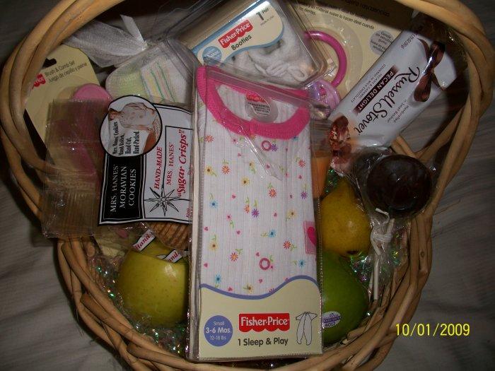 Baby Girl New Arrival Basket