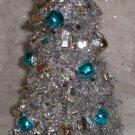 Christmas Tree Silver & Blue