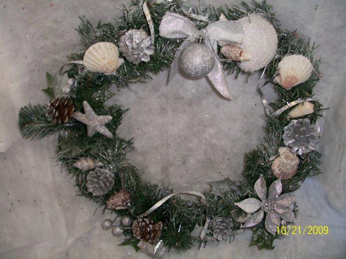 Wreath - Christmas Shells - Silver
