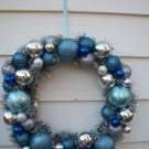 Wreath - Blue and siler balls