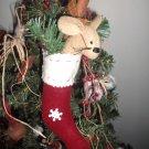 Folk Mouse Stocking Ornie