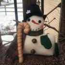 Snowman Shelfsitter With Candy Cane