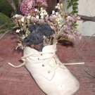 Lil Black Mouse In Vintage Baby Shoe