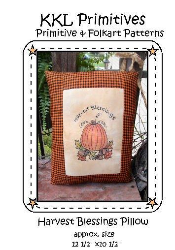 Harvest Blessings Pillow E-pattern