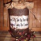 Primitive Grubby Grungy Jar - Half Gallon Size