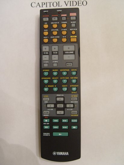 YAMAHA RAV252 REMOTE CONTROL PART # WE458500