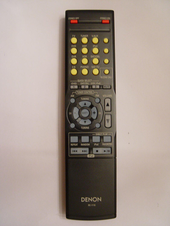 DENON RC-1119 REMOTE CONTROL PART # 963307004540D