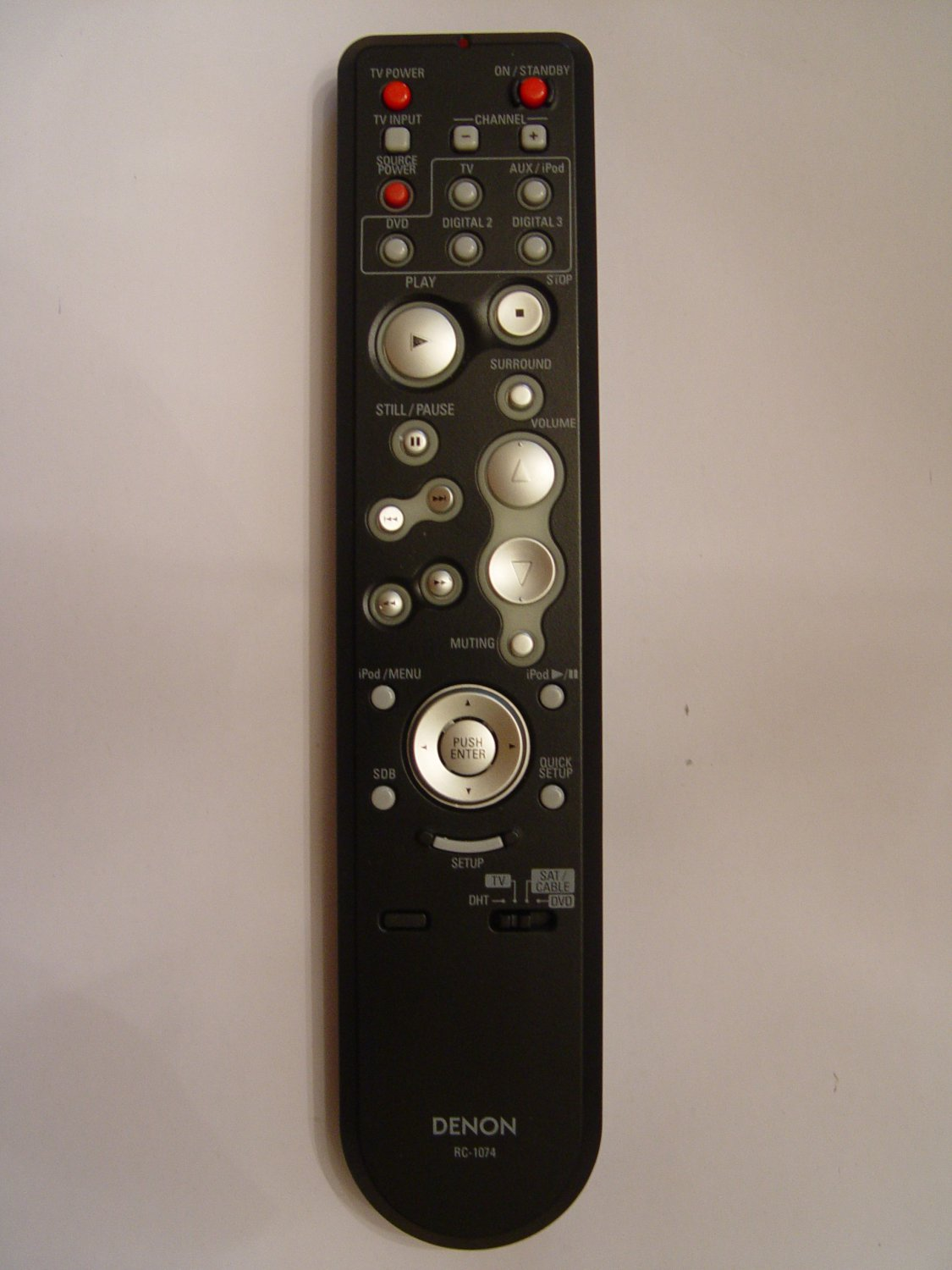 DENON RC-1074 REMOTE CONTROL PART # 9710010402