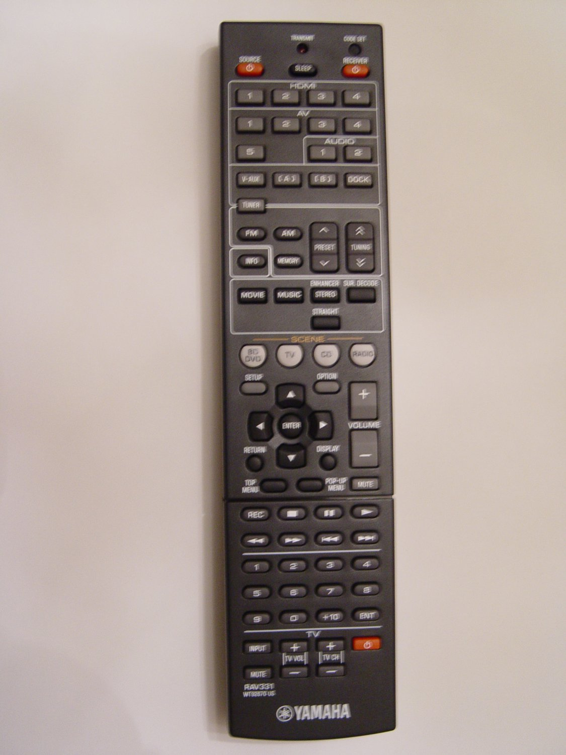 Yamaha Rav331 Remote Control Part   Wt926700