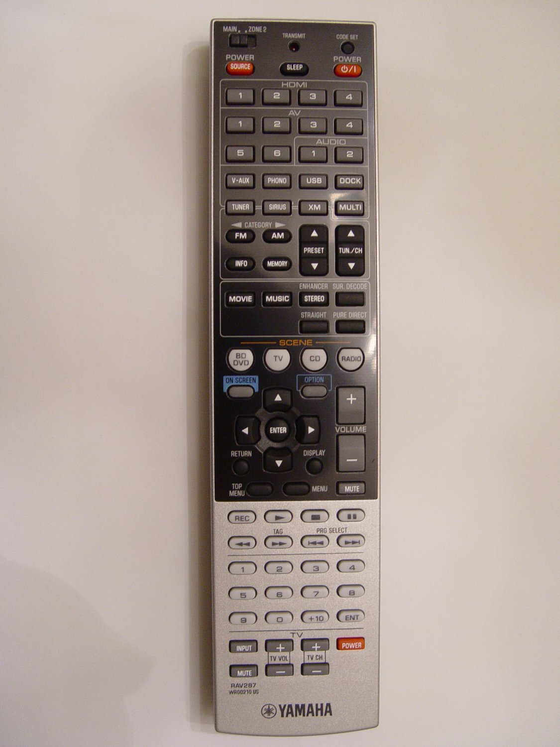 YAMAHA RAV287 REMOTE CONTROL PART # WR002100