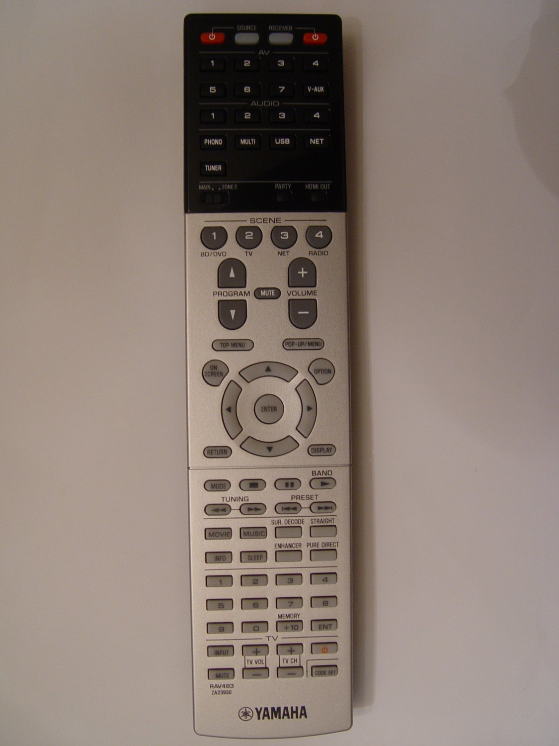 Yamaha RAV483 Remote Control Part # ZA239300