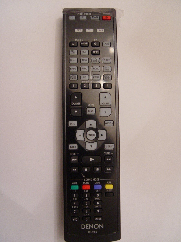 Denon RC-1166 Remote Control Part # 30701010500AD