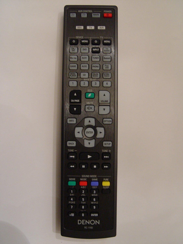 Denon RC-1193 Remote Control Part # 30701016200AD