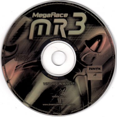 MegaRace 3 CD-ROM for Windows - NEW in SLV