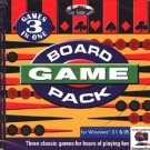 BOARD GAME PACK CD-ROM for Windows - NEW in JC