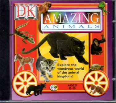 DK - Amazing Animals v1.1 (Ages 6-9) PC-CD Win Vista/2000/XP/Me/98 - NEW in JC