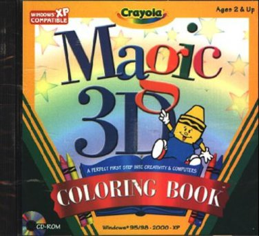 Crayola Magic 3D Coloring Book (Ages 2+) PC-CD for Windows 95-XP - NEW in SLEEVE