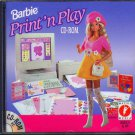 Barbie Print'n Play (Ages 5+) CD-ROM for Windows -NEW Sealed JC
