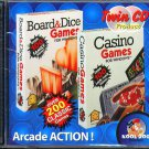 Twin CD: Board & Dice Games/Casino Games (2CDs) for Windows 95/98 - New in SLV