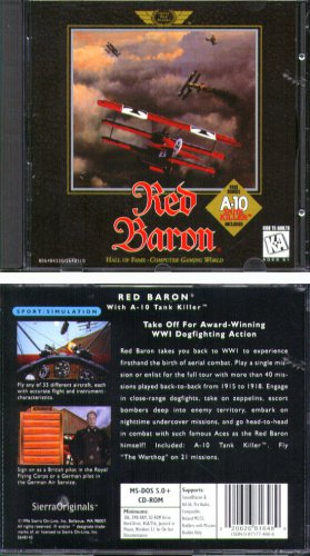 Red Baron + A-10 Tank Killer PC CD-ROM for DOS - NEW in SLV
