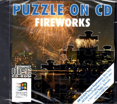 Puzzle On CD - Fireworks PC CD-ROM for Windows - NEW in SLV