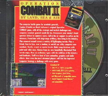 OPERATION COMBAT II: By Land, Sea & Air PC-CD for DOS - NEW in SLEEVE