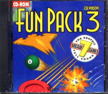 Fun Pack 3 for Windows PC CD-ROM for Windows - New in SLEEVE