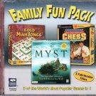 Family Fun Pack (2 CD-ROMs) for Windows 95/98 - New Sealed JC