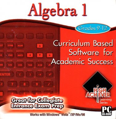 High Achiever Algebra 1 (Grades 9-12) CD-ROM for Win - NEW in SLEEVE