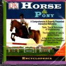 DK Horse & Pony Encyclopedia CD-ROM for Windows 95-Vista - NEW in SLEEVE