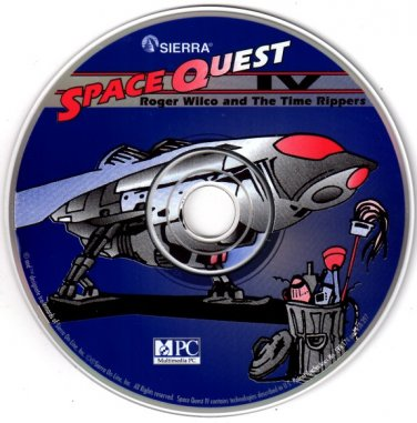 Space Quest IV: Roger Wilco and The Time Rippers PC-CD for DOS -NEW CD in SLEEVE
